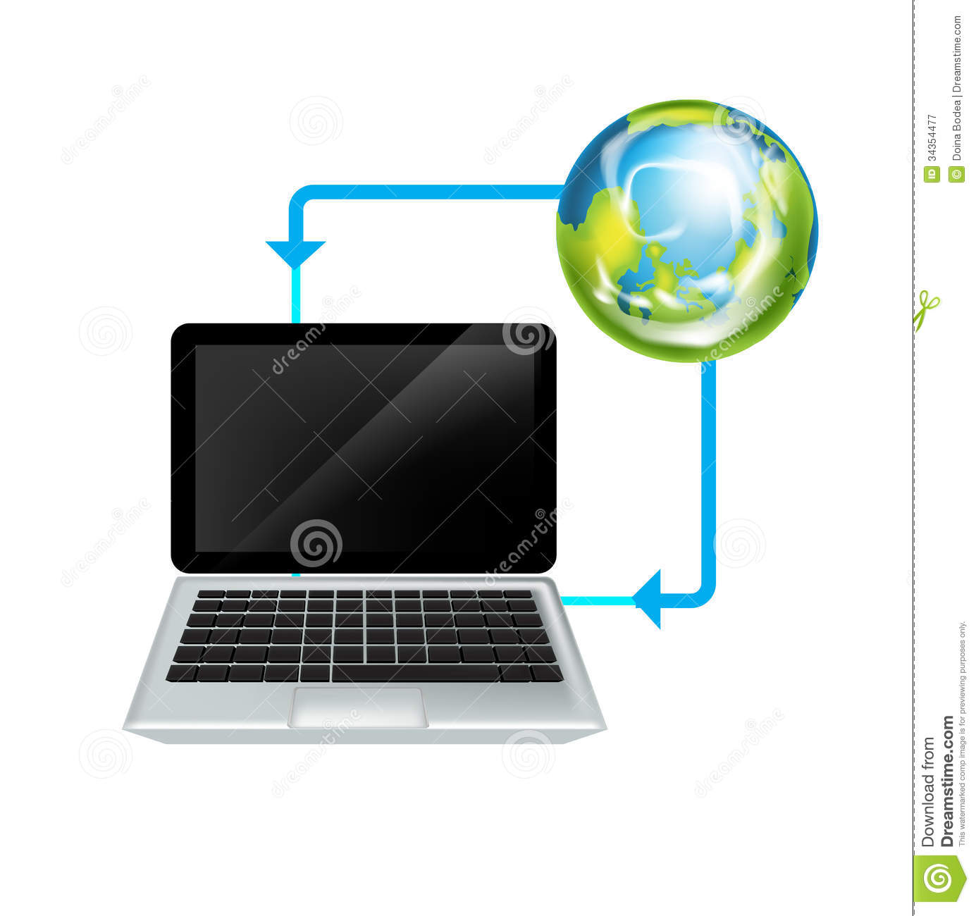 Laptop and earth globeinternet symbol stock vector image 34354477 royalty free stock photo biocorpaavc