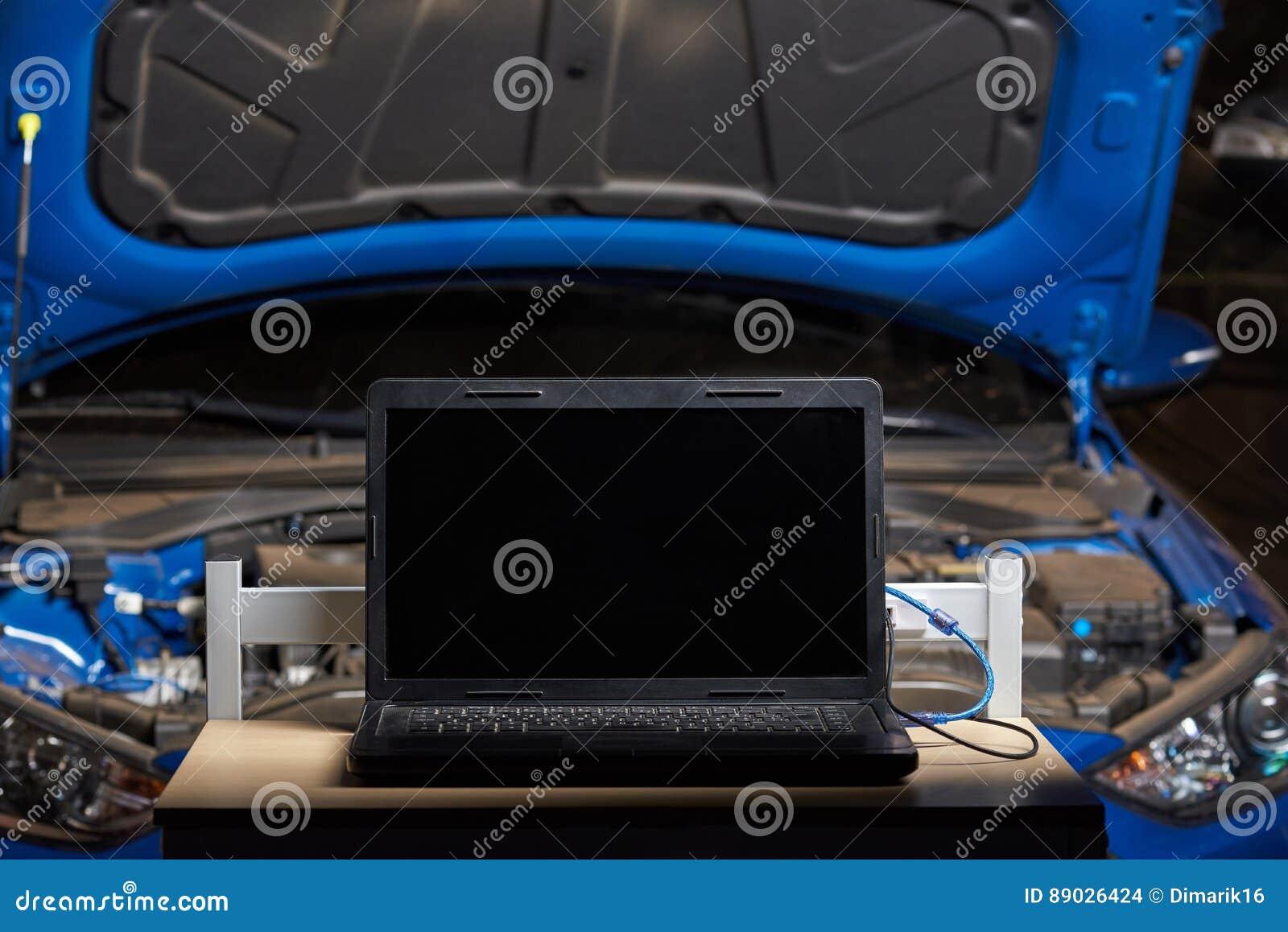 Laptop für Computerautodiagnose
