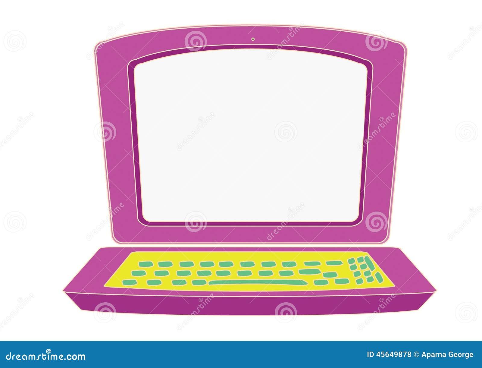 Laptop Für Kinder Stock Abbildung Illustration Von Verwendet 45649878