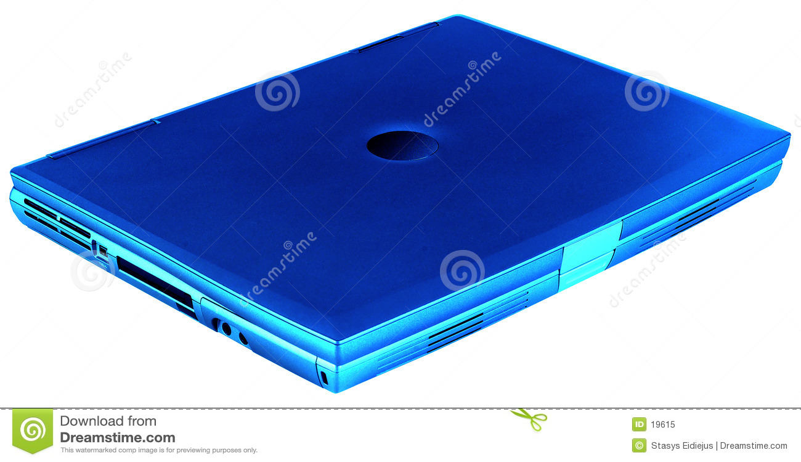 Laptop geïsoleerdt blauw,