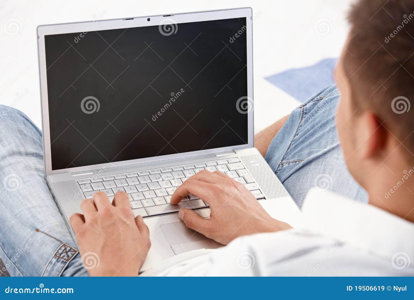 Laptop in gebruik