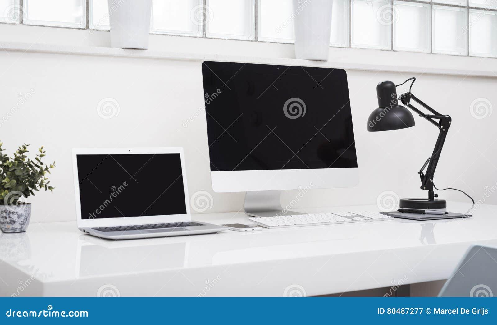 Laptop Header Stock Image Image Of Imac Designer Identity  # Bureau Moderne Pour Pc
