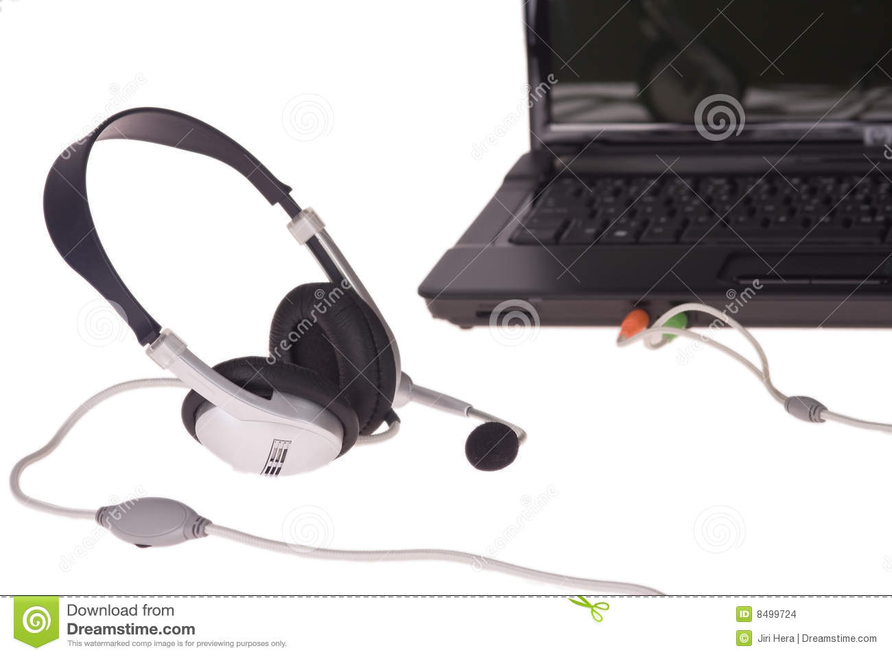 how to connect headset on laptop