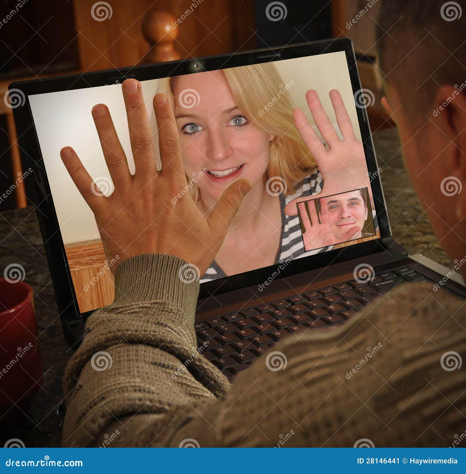 Laptop het Babbelen van de Mensen van de Videocamera