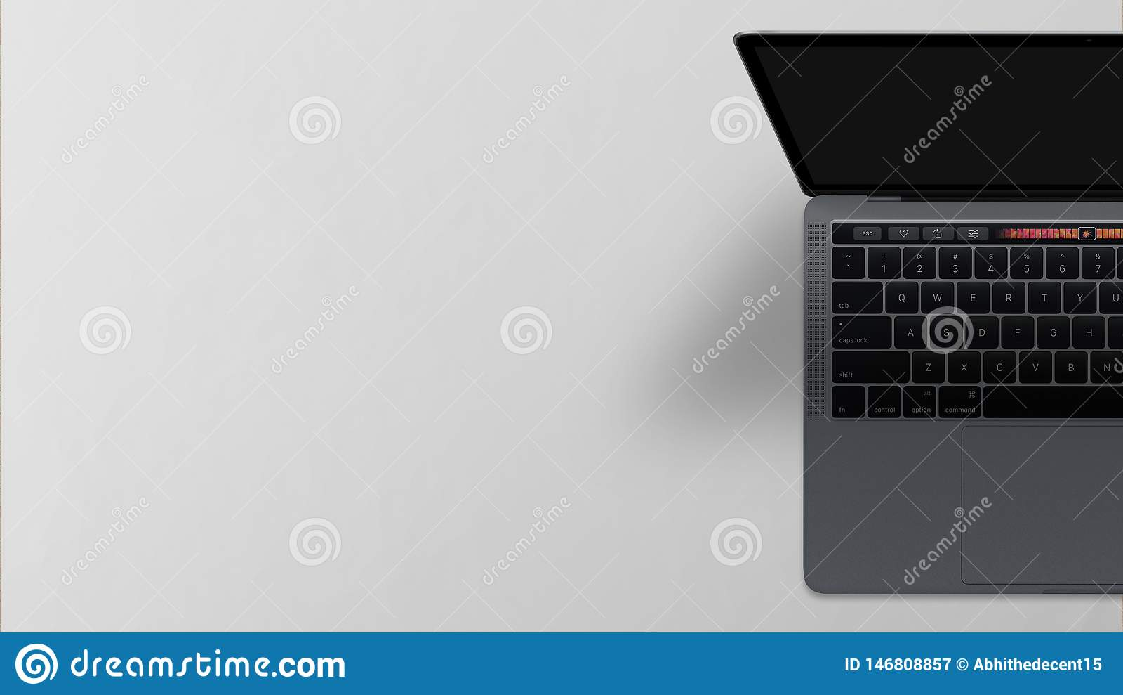Laptop het Hoogste Weergeven van het Computer Lege Scherm