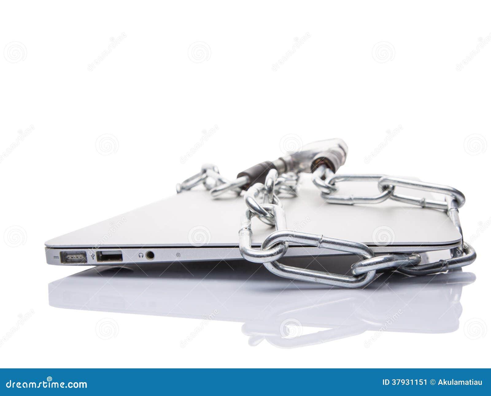 Laptop i łańcuchy X