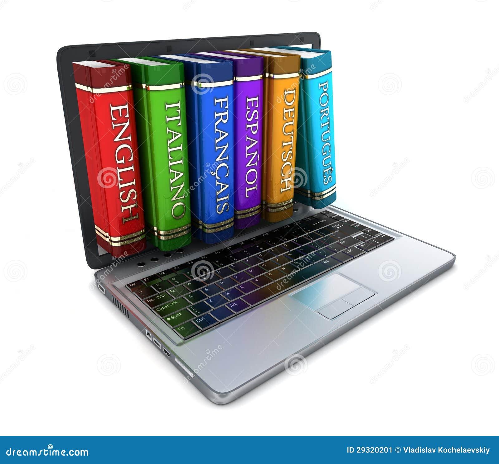 Laptop i język obcy