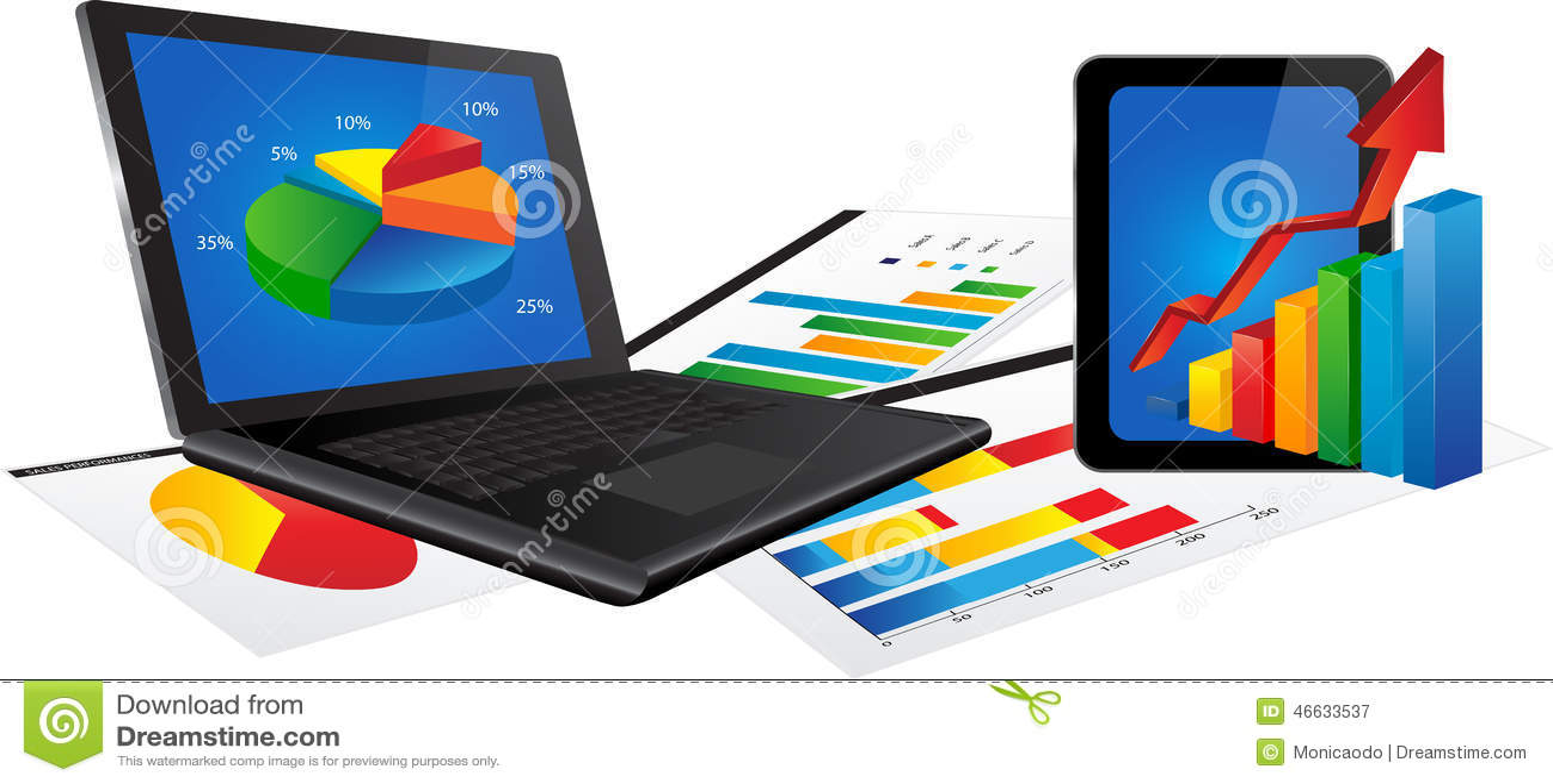Laptop i pastylka z statystyki mapą