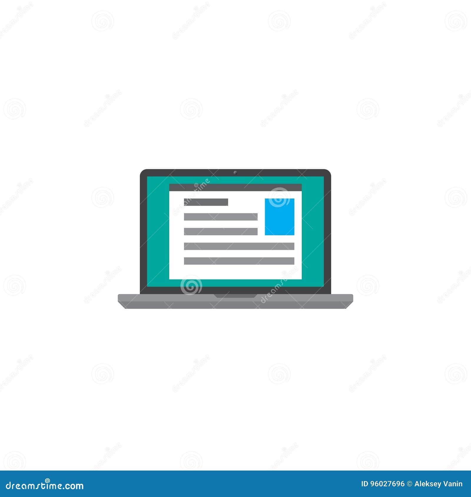 Laptop ikony wektor, stała logo ilustracja, kolorowy piktogram