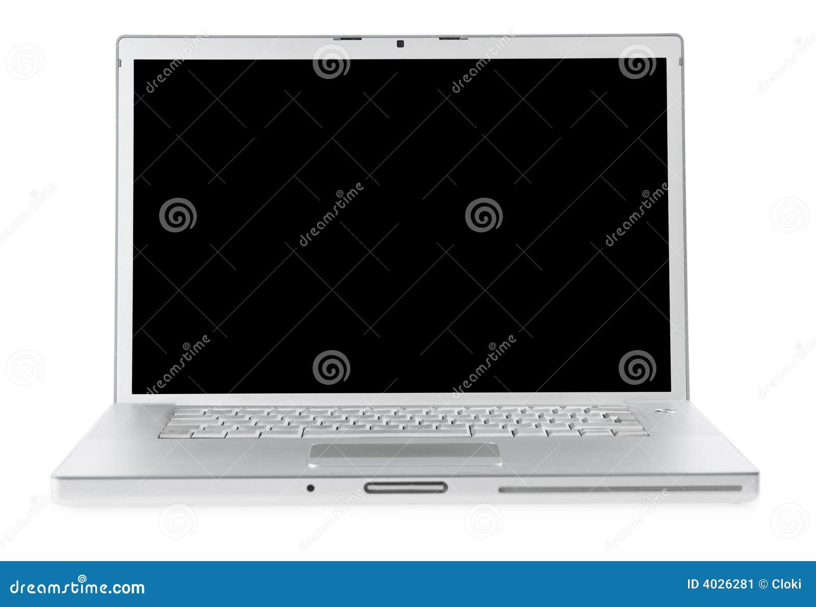 Laptop isolated on white.