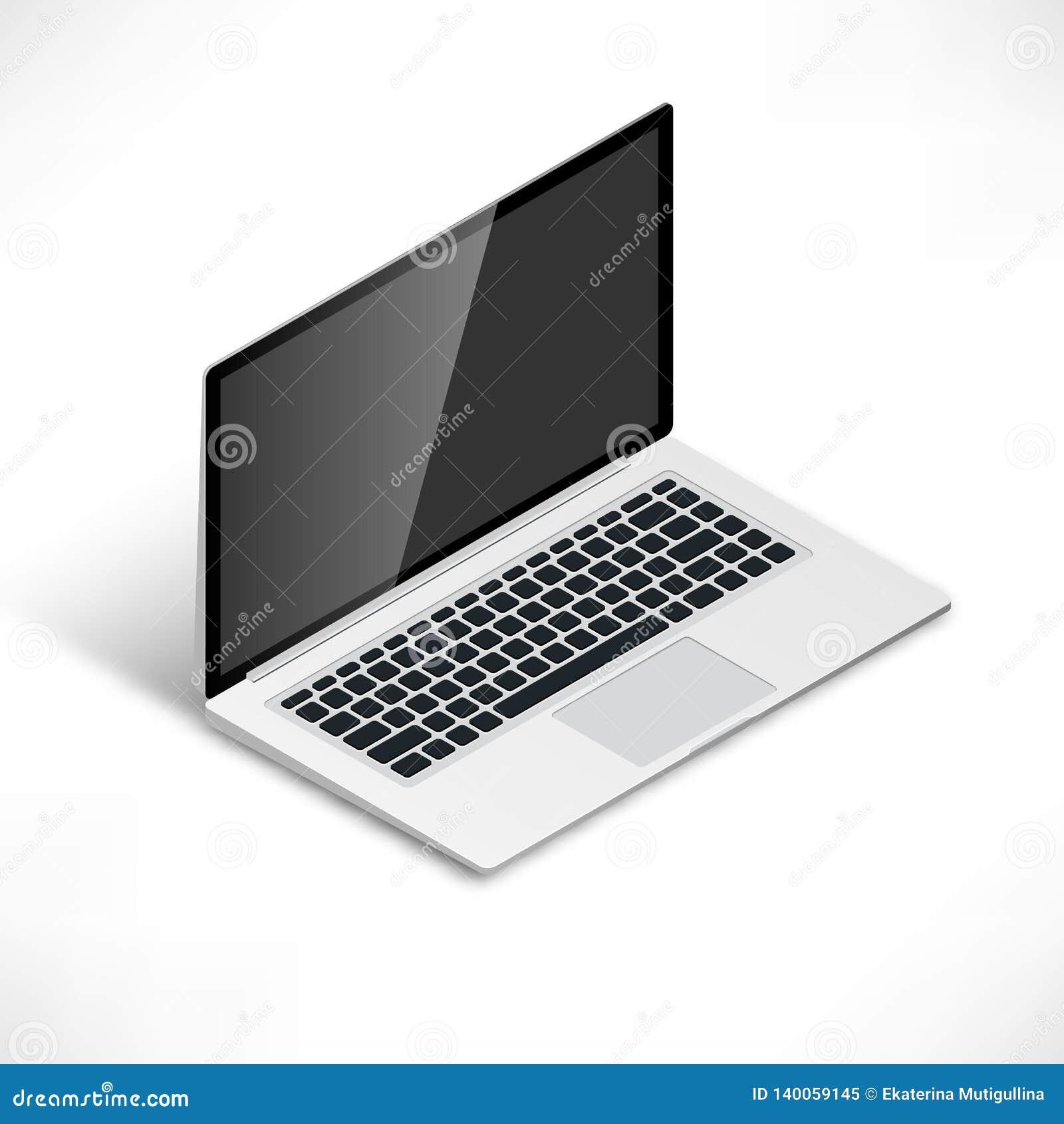 Laptop isometric