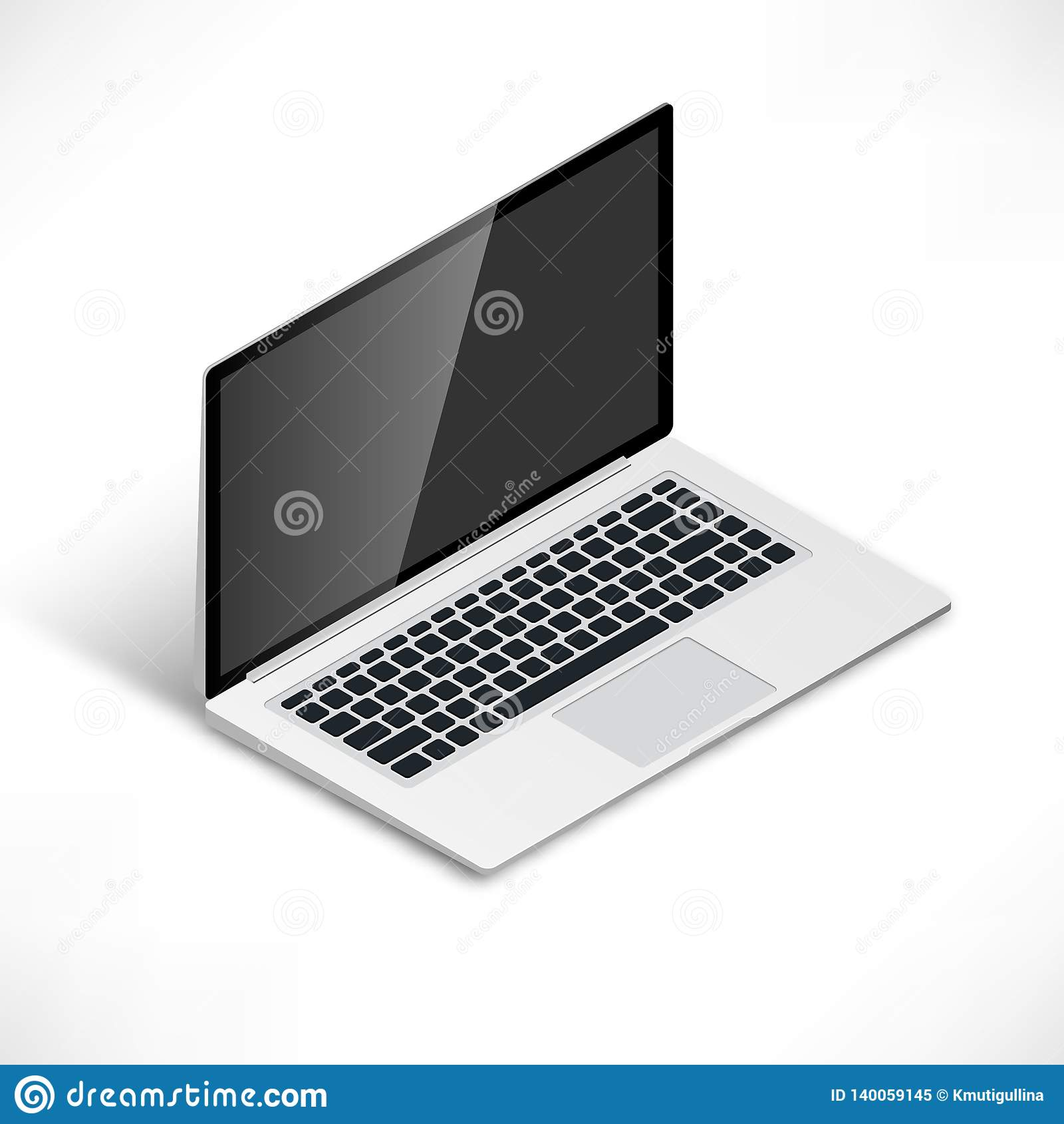 Laptop isometrisch