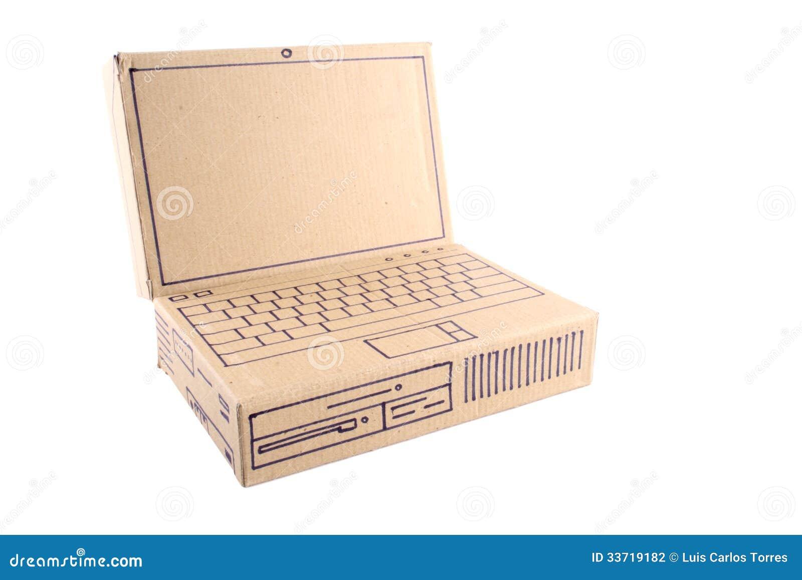 laptop aus pappe basteln