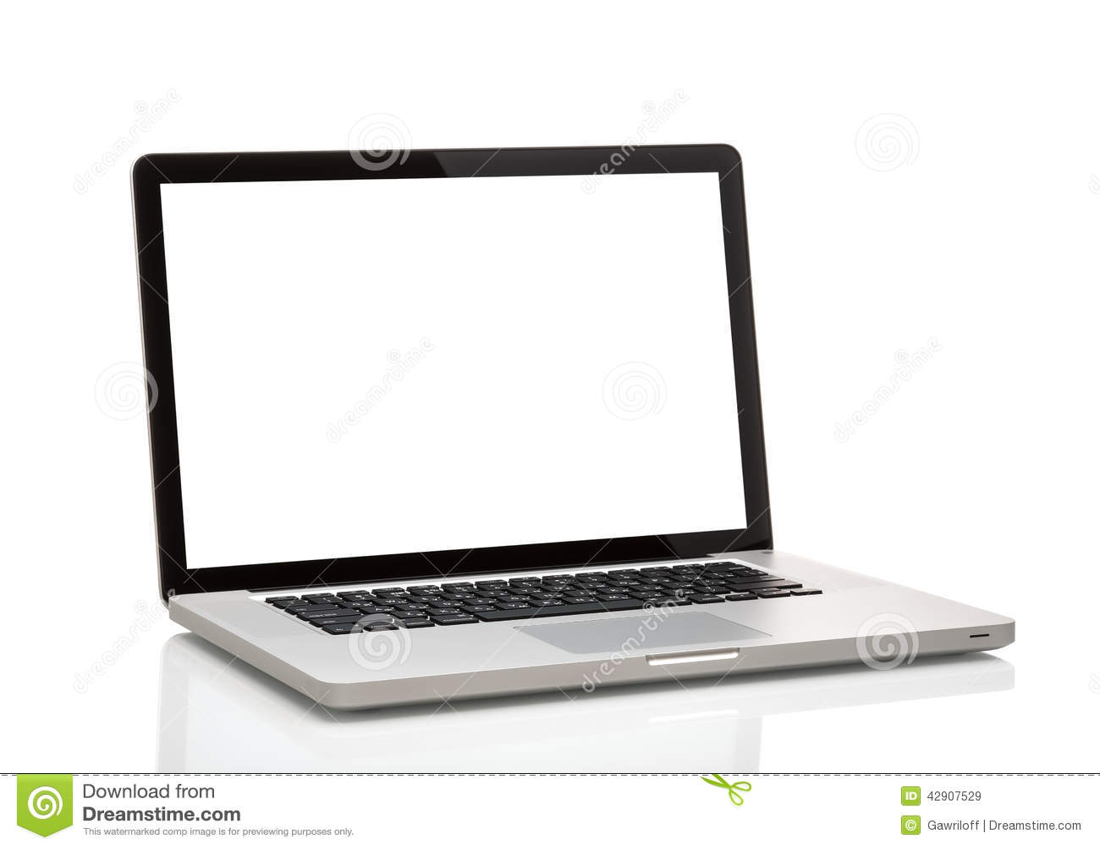 Laptop, like macbook with blank screen.