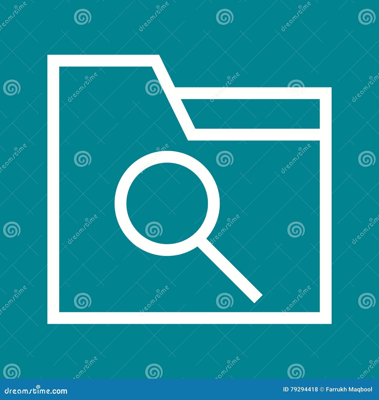 Laptop, Lupe und Dateien