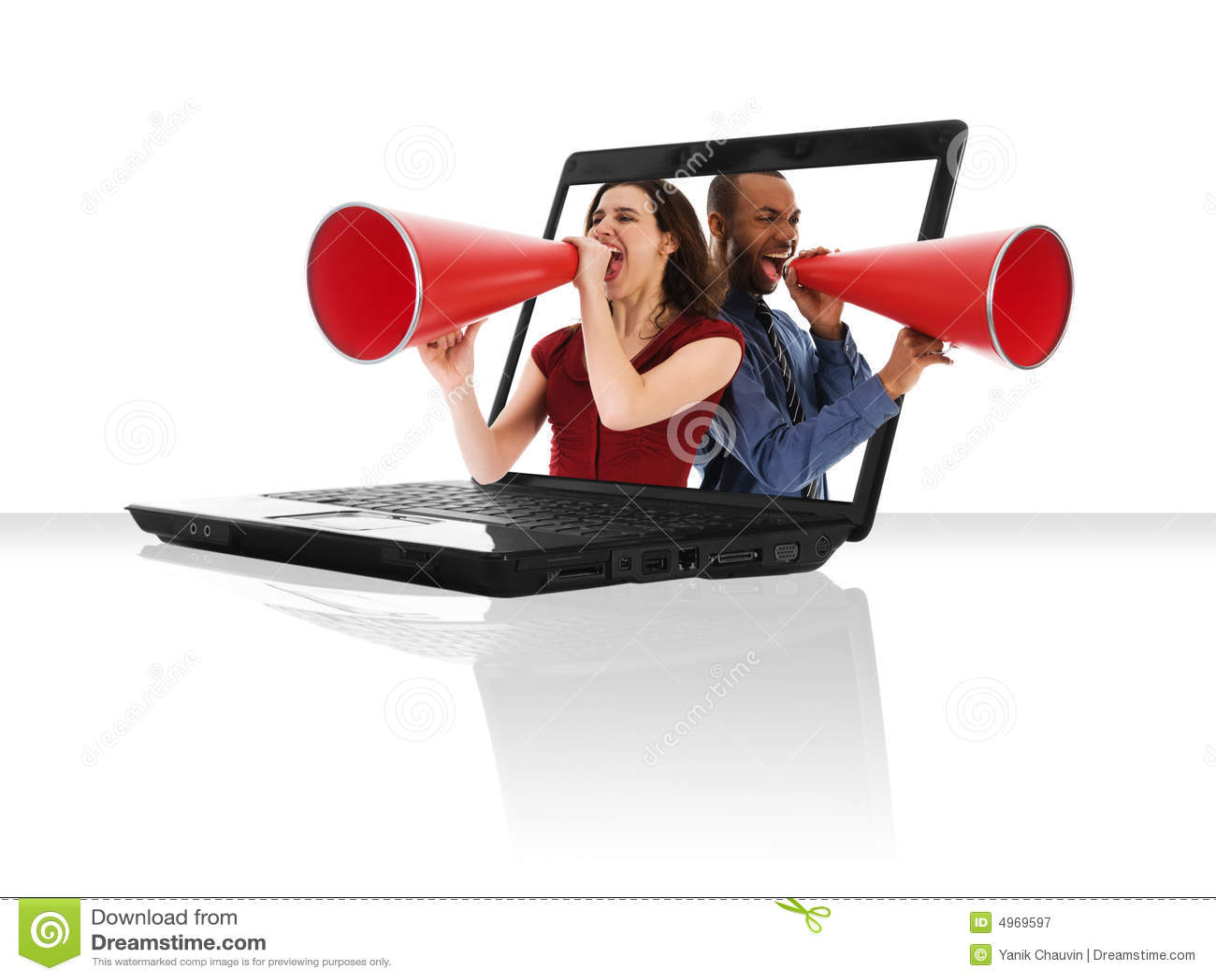 Laptop Megafoon
