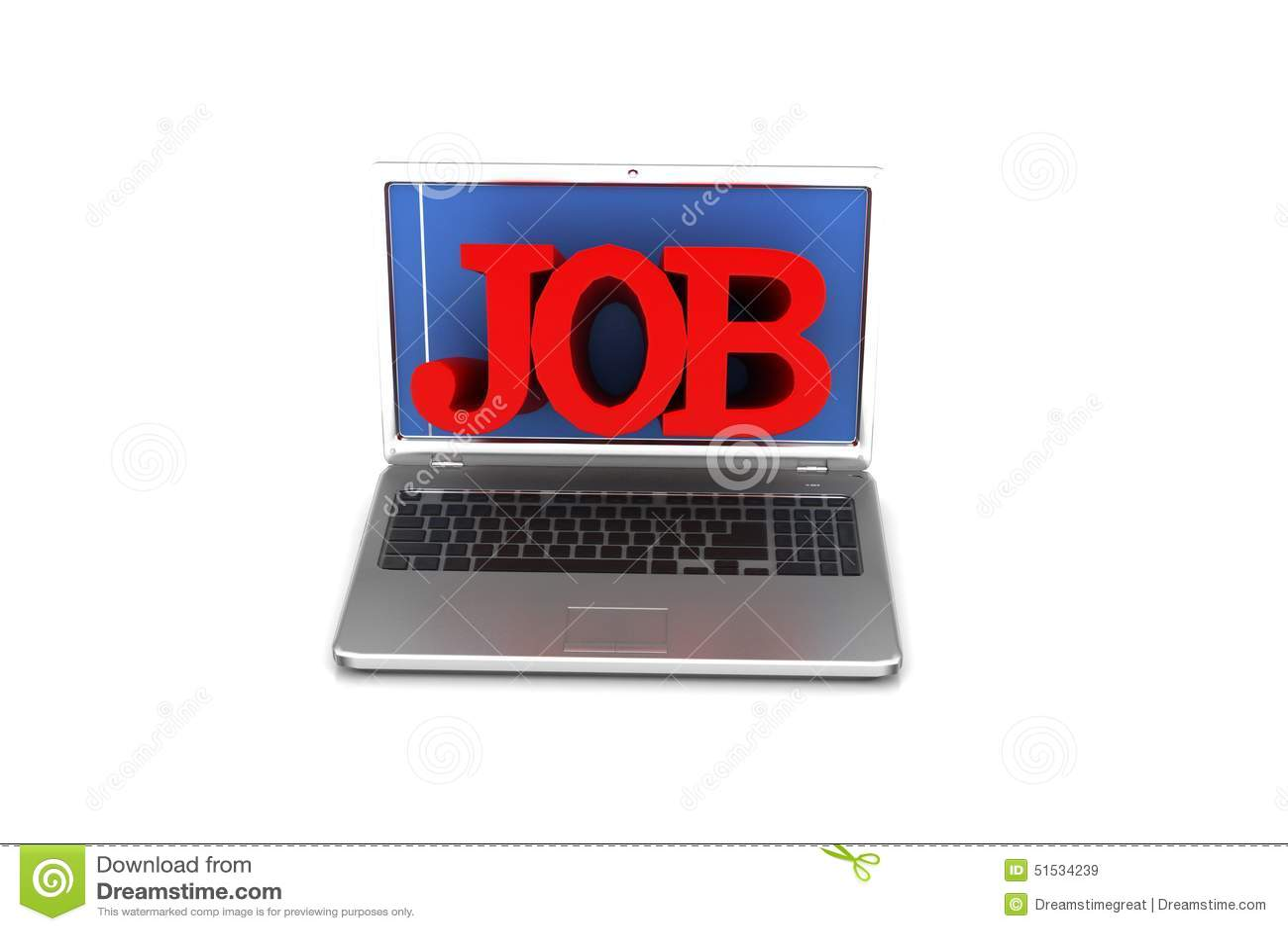 Laptop met de woordbaan