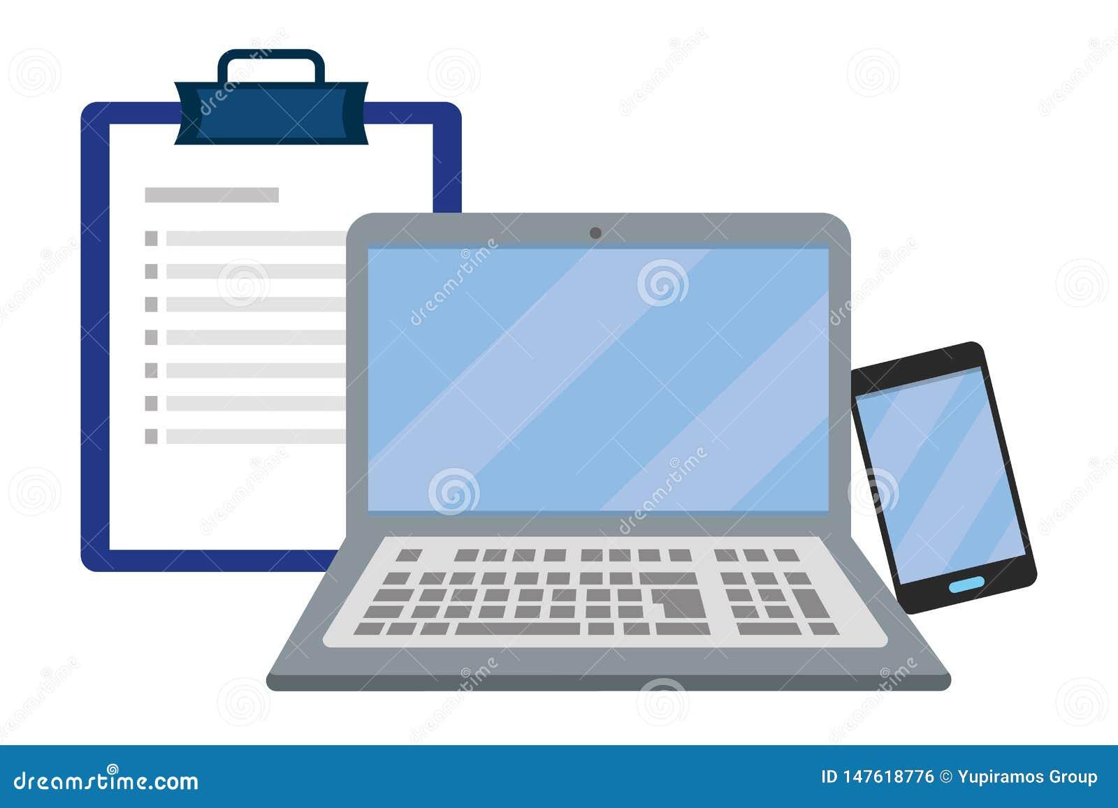 Laptop mit Checkliste