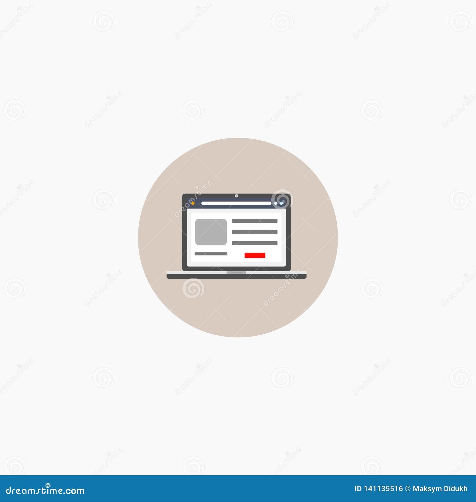 Laptop. Monitor. Icon. Logo. Vector illustration. EPS 10