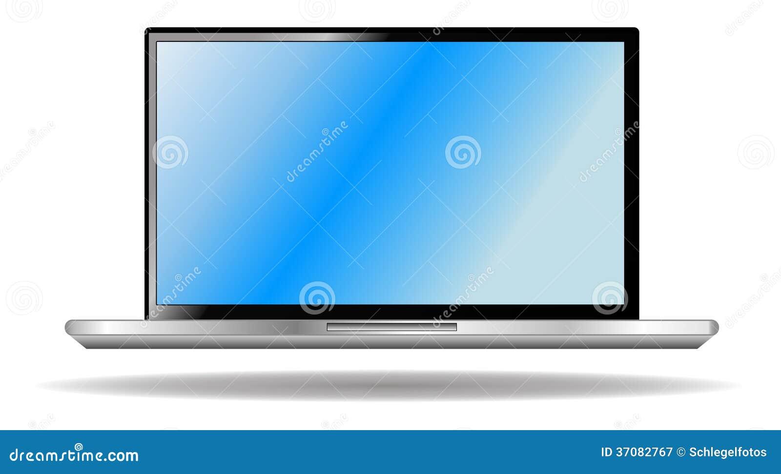 Download Laptop odizolowywający ilustracji. Ilustracja złożonej z grafika - 37082767