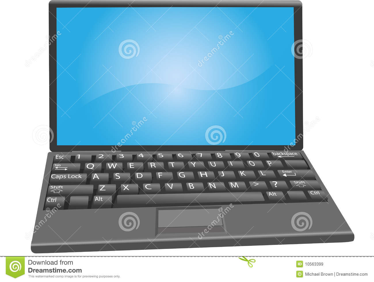 Laptop PC Notebook Computer Keyboard Key Labels Royalty Free Stock ...