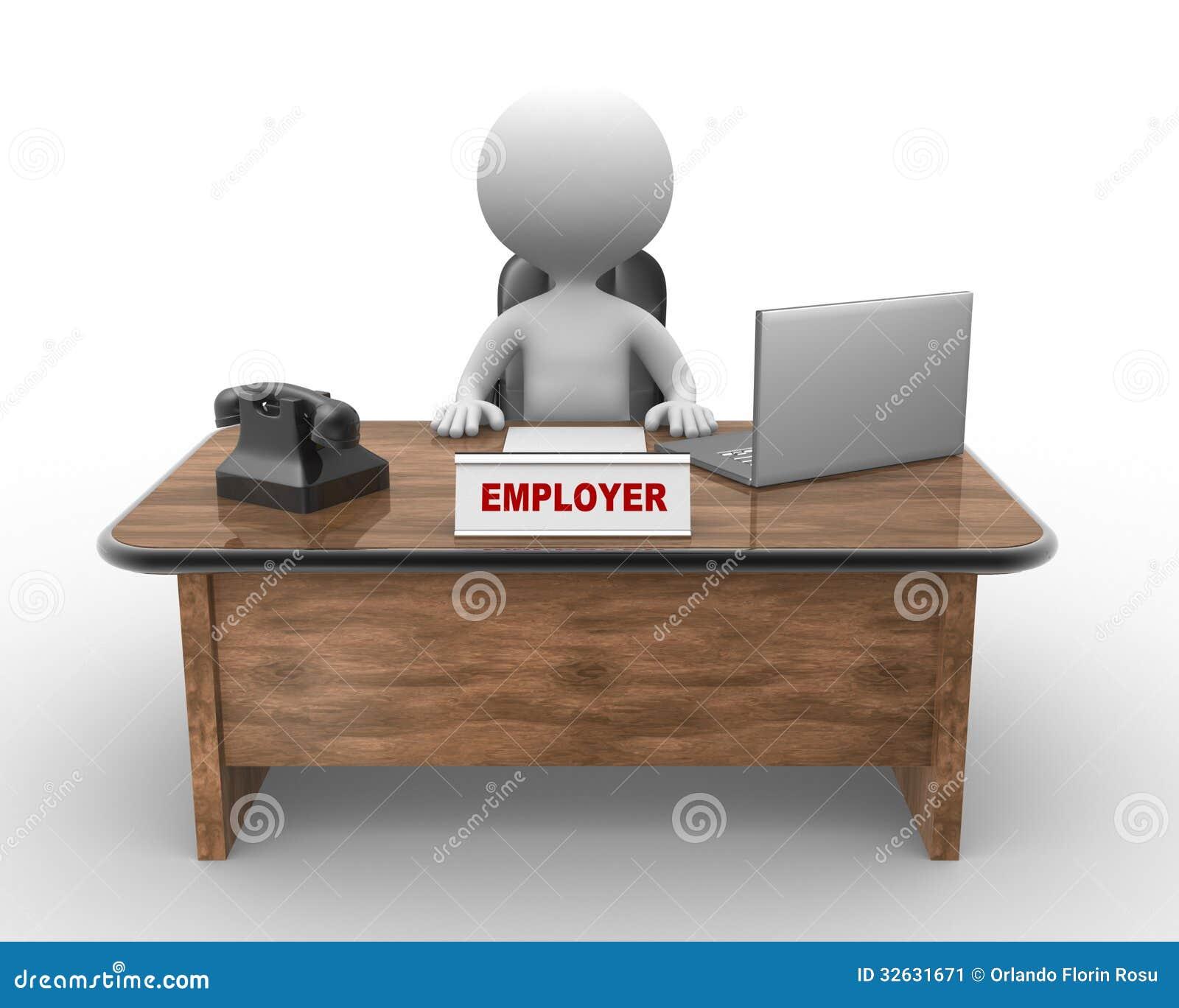 Laptop And Phone. Employer Stock Illustration