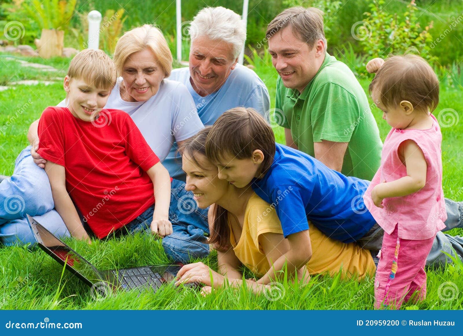 Laptop rodzinna natura