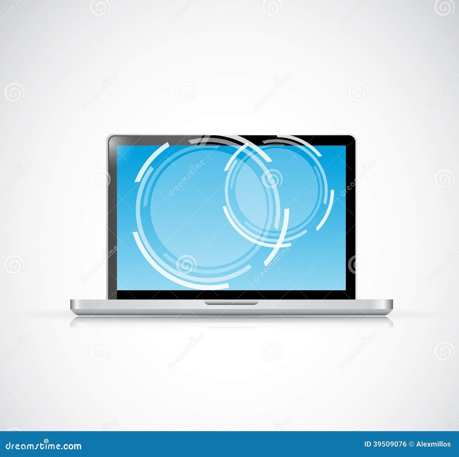 Laptop touchscreen illustration design