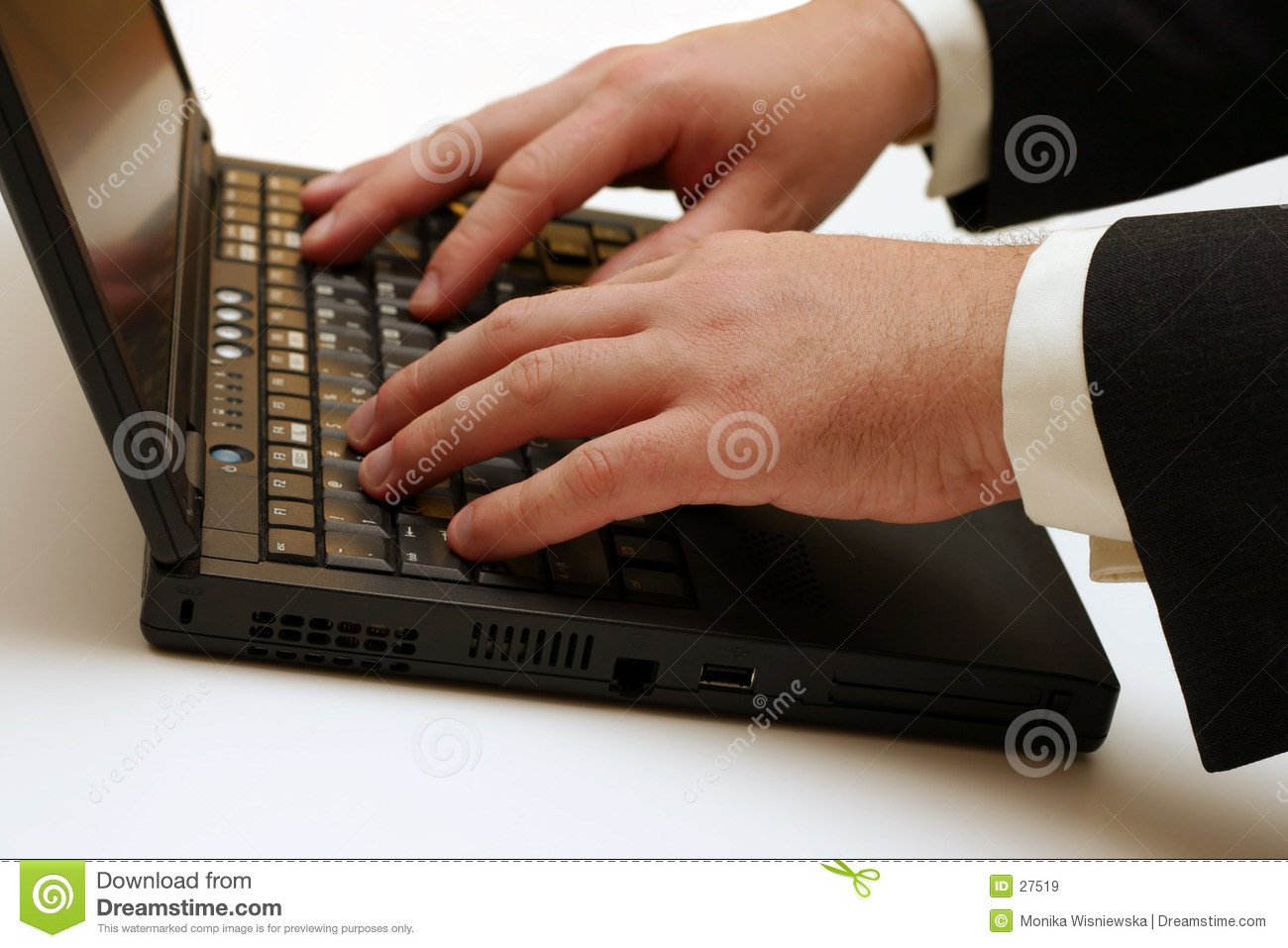 Laptop - Typing stock image. Image of business ...