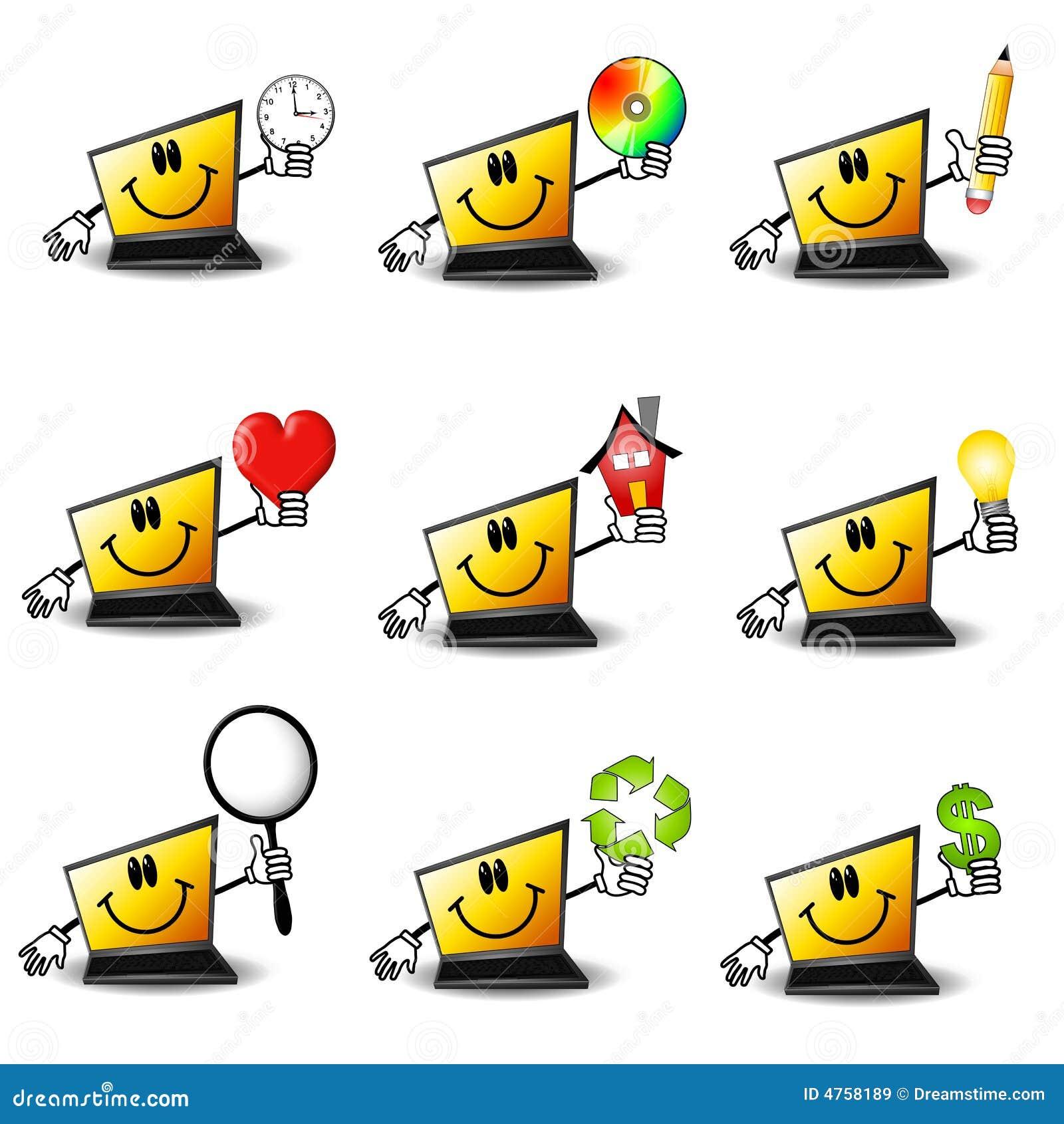 Laptop van het beeldverhaal Computers