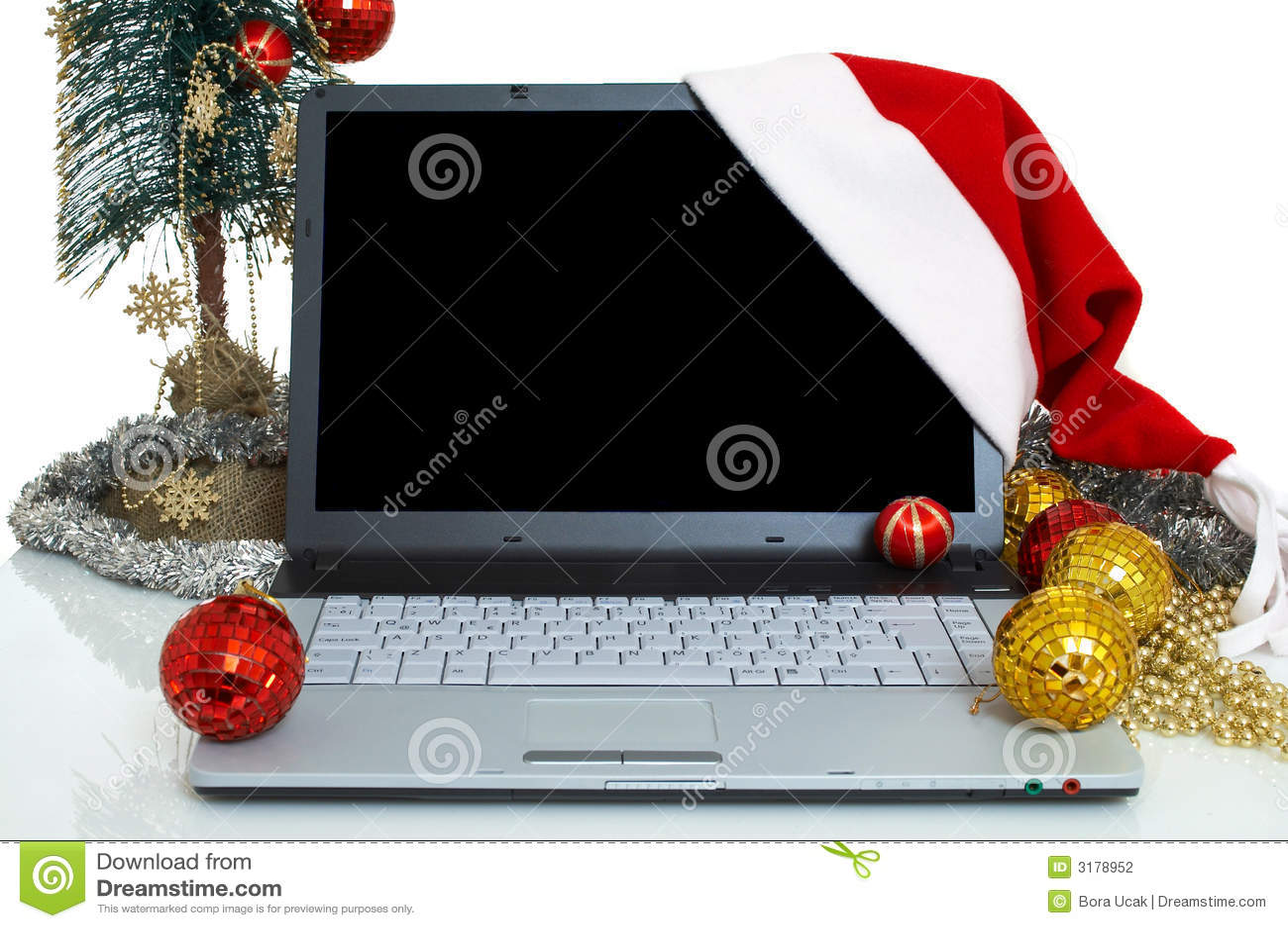 Laptop voor Kerstmis