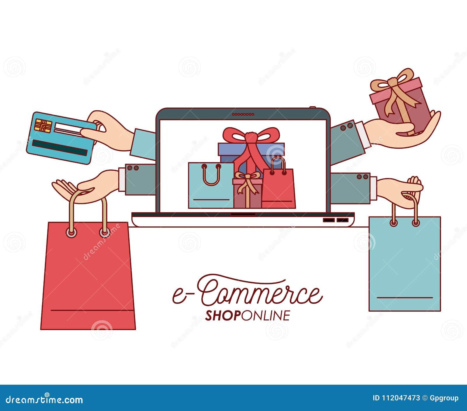 Bag Shopping Process E-commerce Shop ...