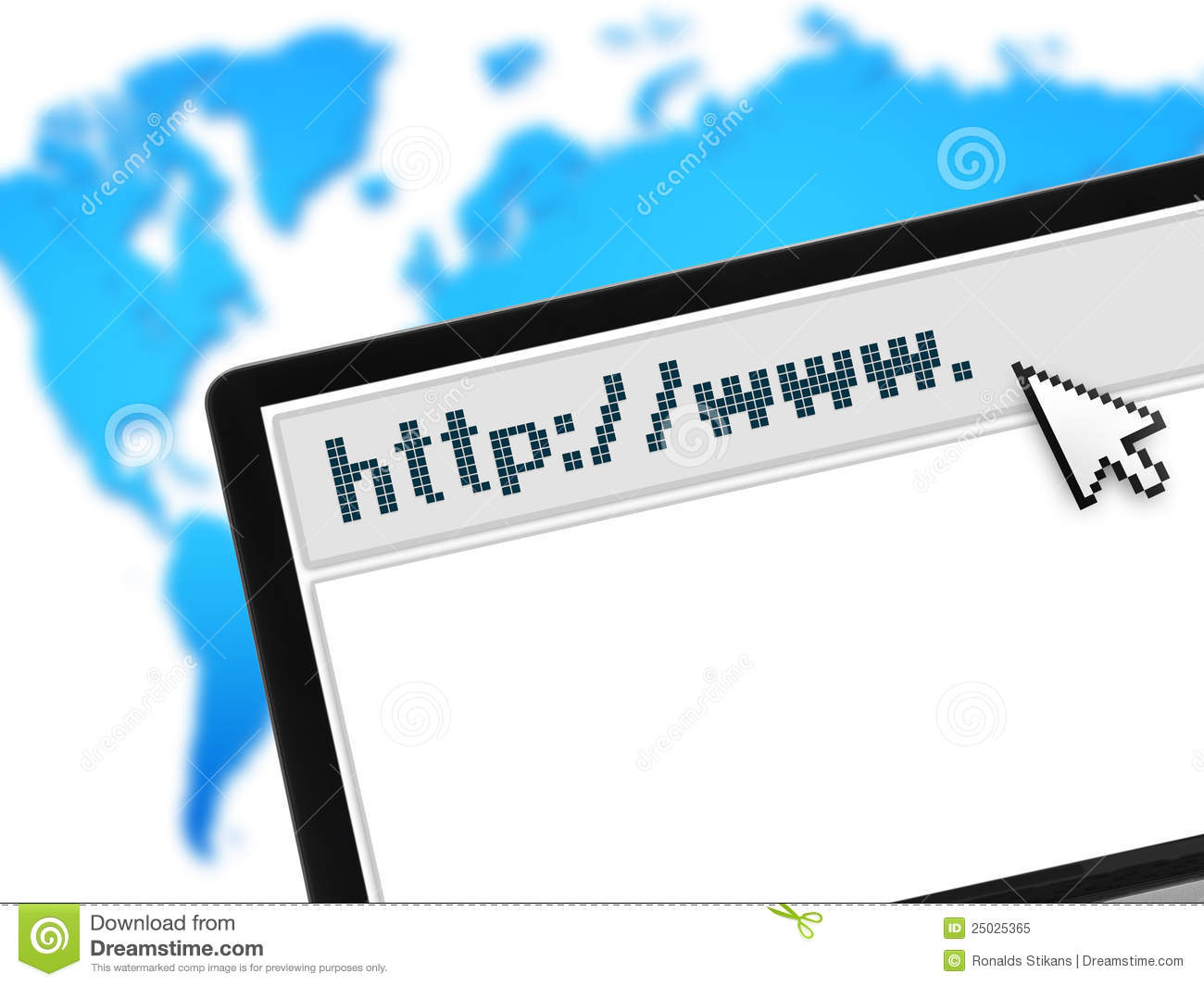 Laptop with web browser over world map stock image image of laptop with web browser over world map gumiabroncs Choice Image