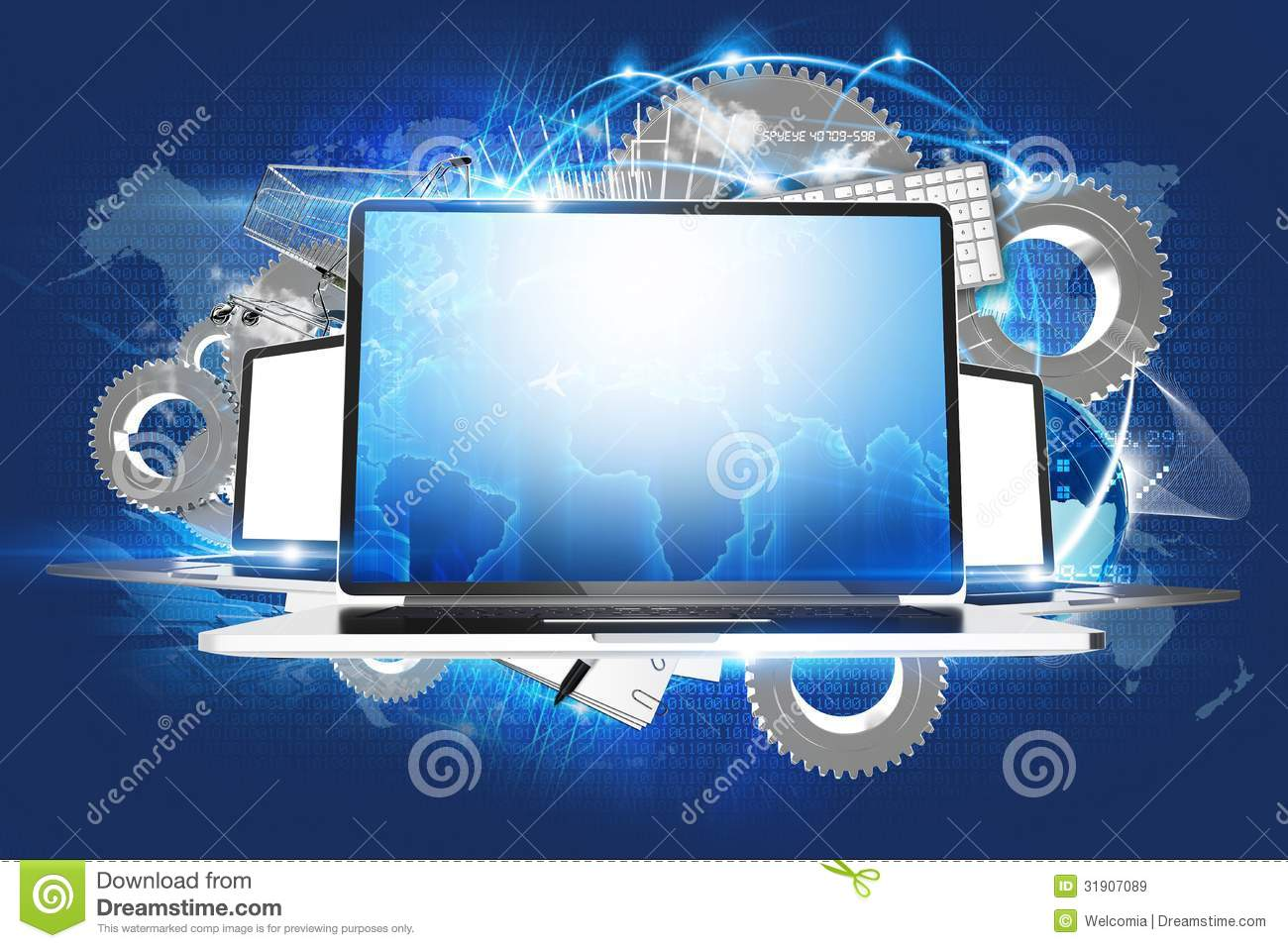 Laptop Workstations Royalty Free Stock Images Image