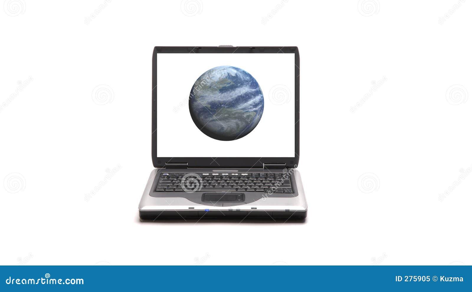Laptopa białe tło