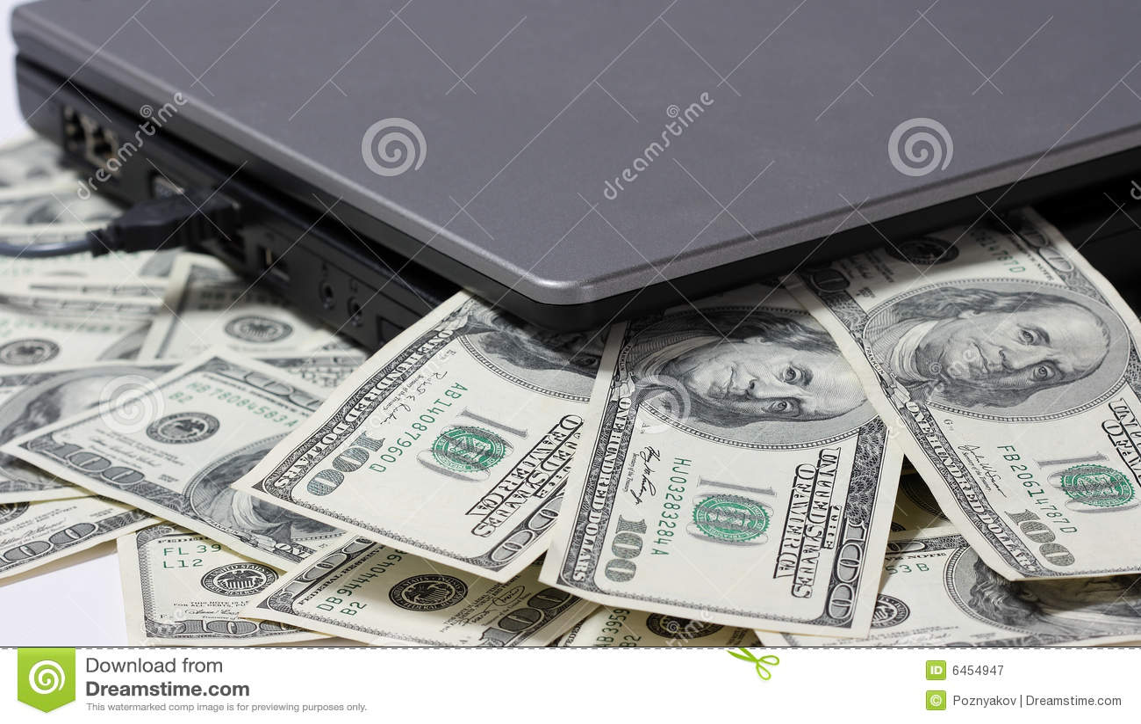 Laptopa pieniądze