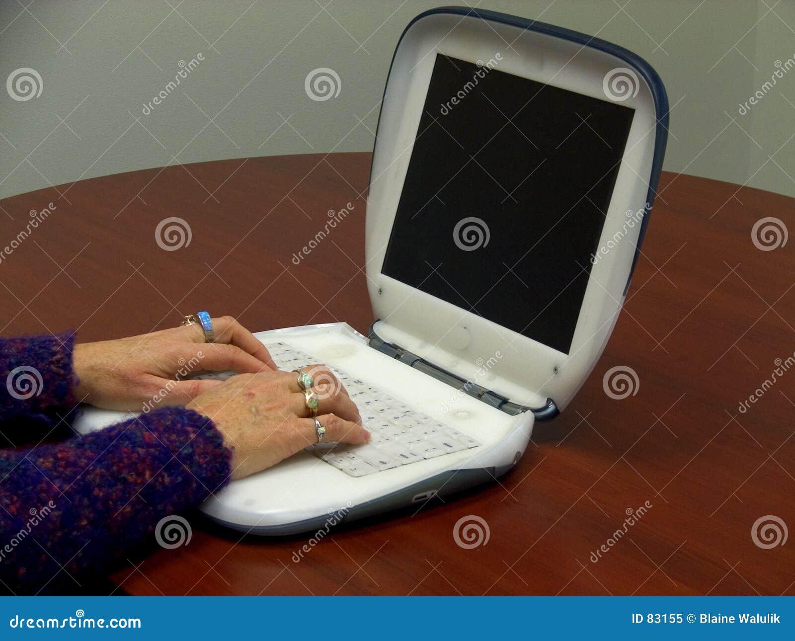 Laptopa użytkownika