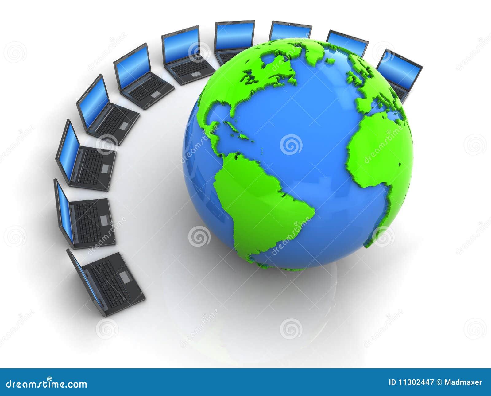Laptope und Erde