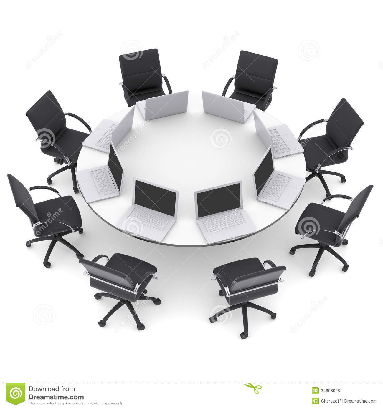 how to draw a round table
