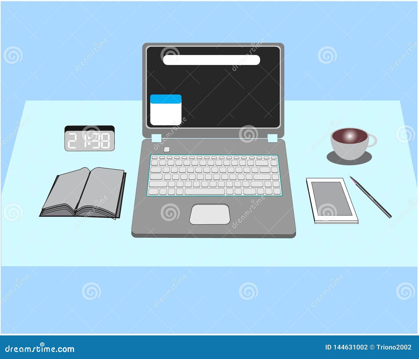 Laptops und Zeicheninventar