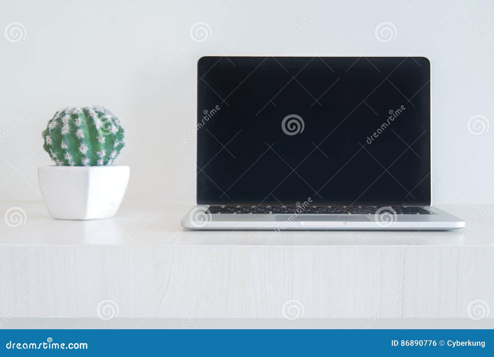 Laptot et cactus de carnet