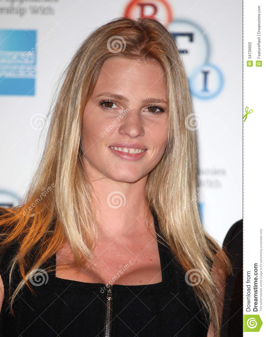 Lara Stone attending a photocall before introducing the film 'The Spy ...