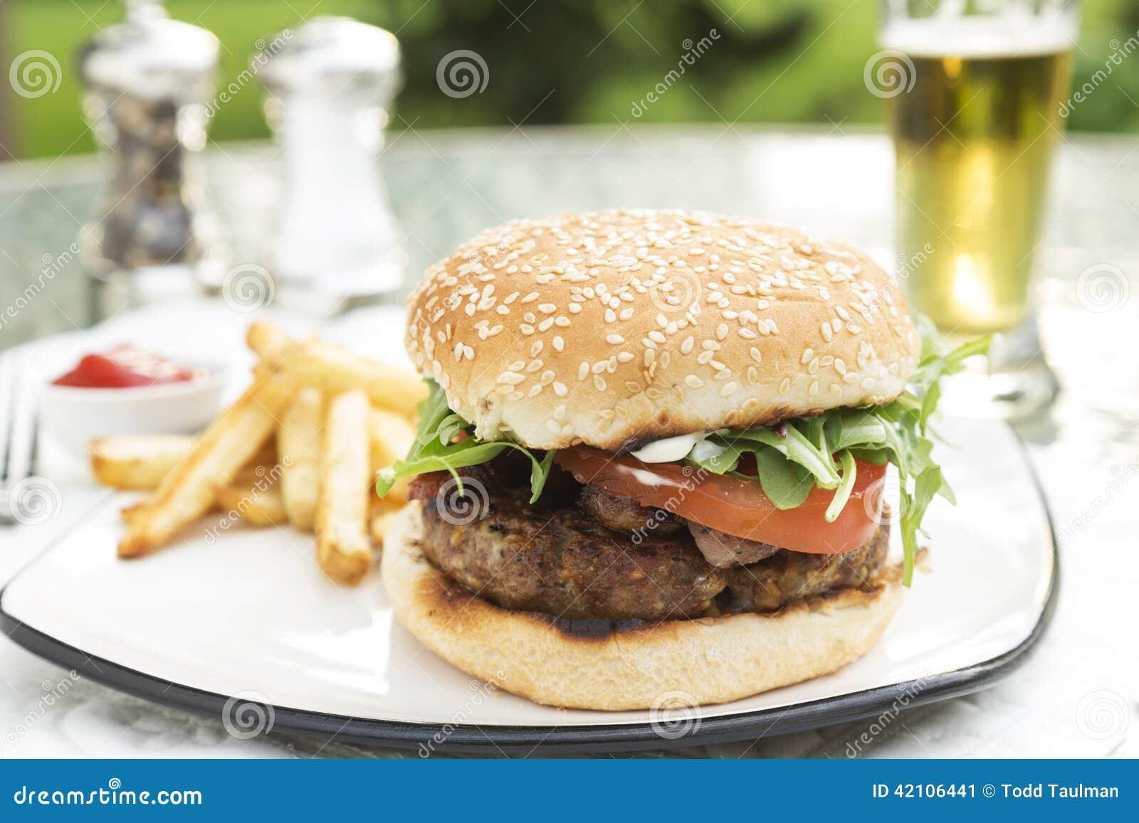 Lard et cheeseburger bourré par Bleu