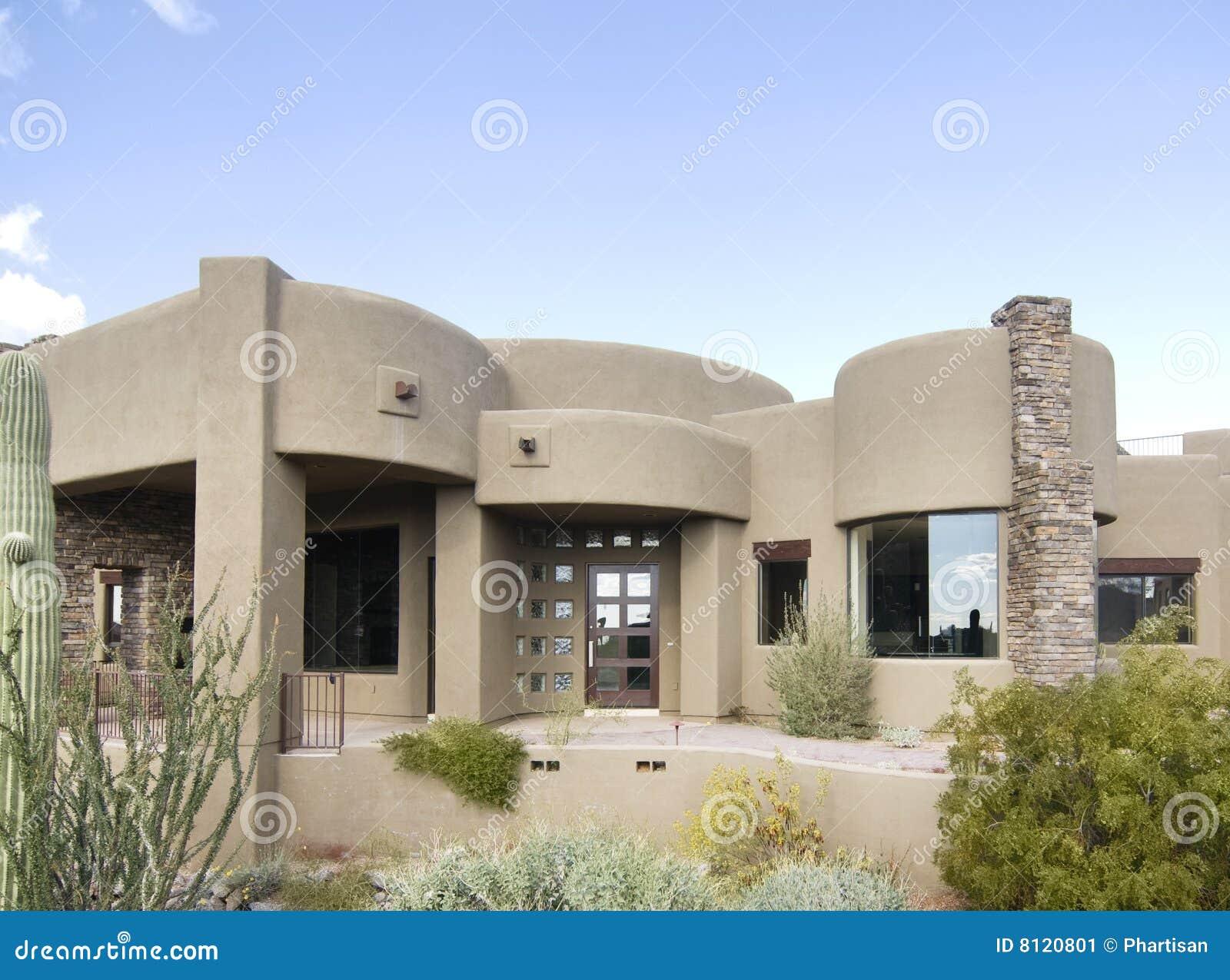 Large Adobe Style New Home Stock Image Image 8120801