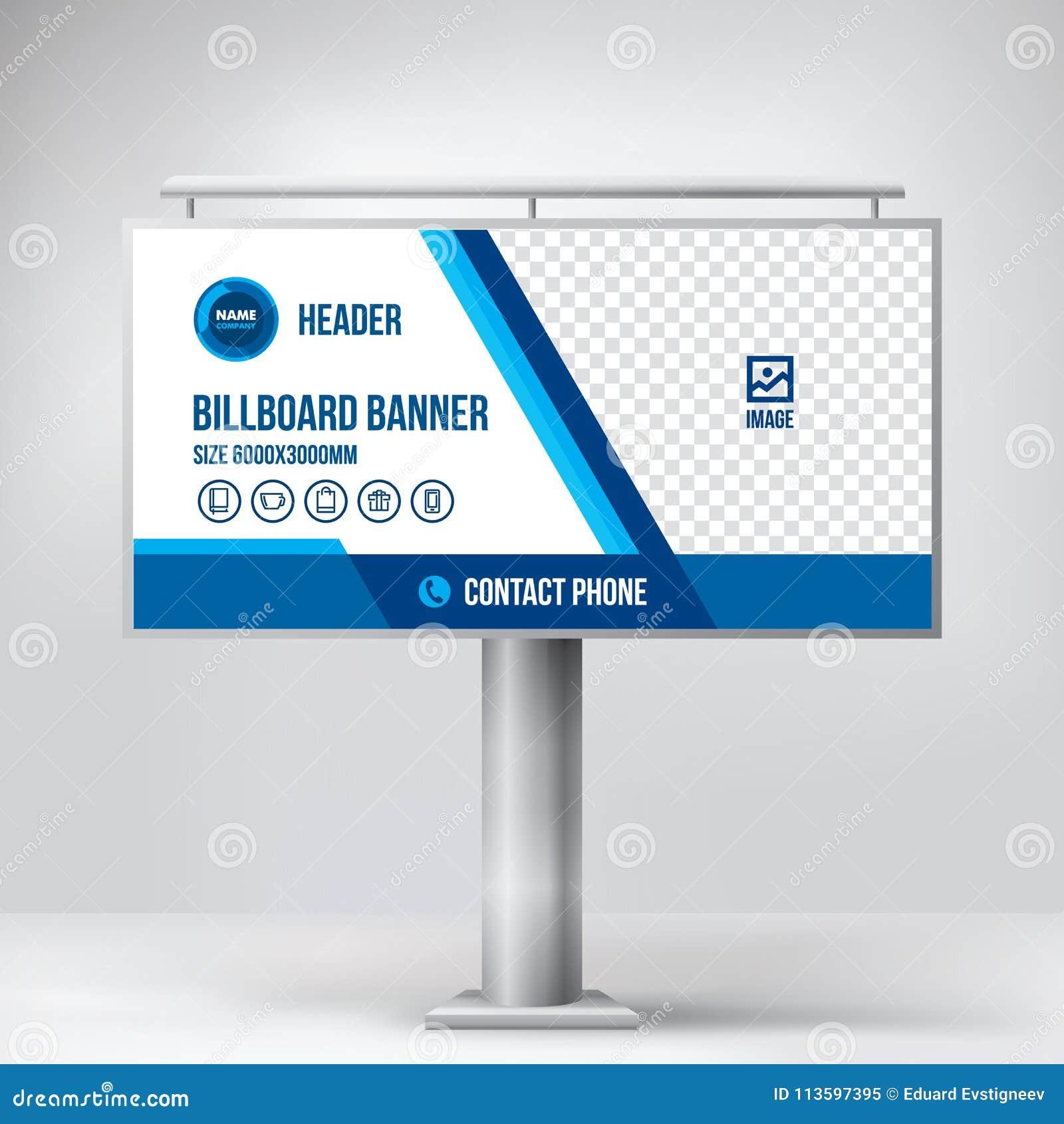 Billboard Design Template Banner For Outdoor Advertising Posting
