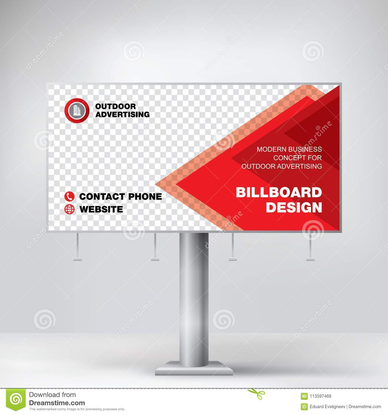 billboard design template banner for outdoor advertising posting