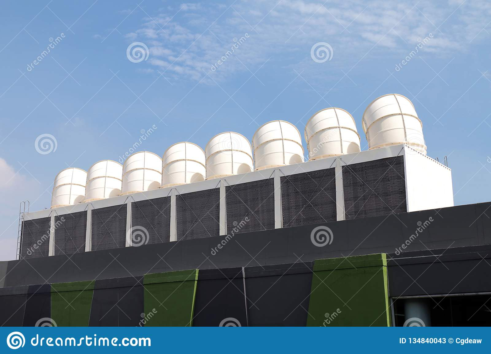 Ventilation System For Heat Control Of Factory Stock Photo
