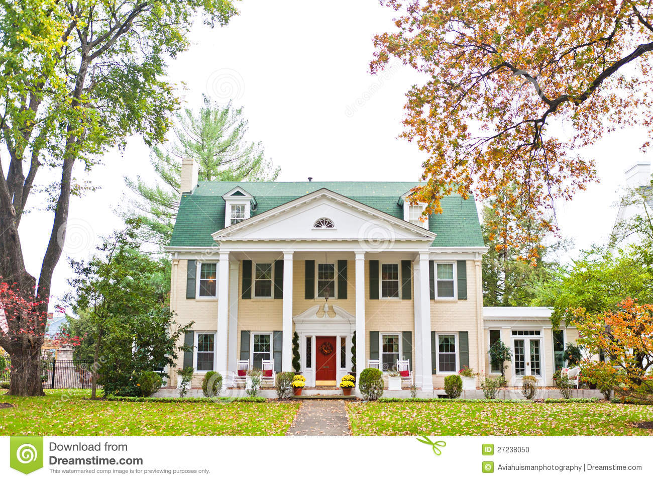 Large American Mansion Stock Photo Image 27238050