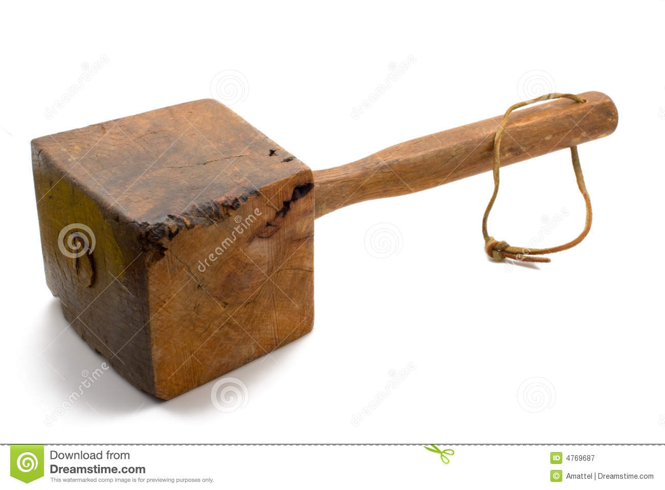 Large Antique Mallet Royalty Free Stock Photography