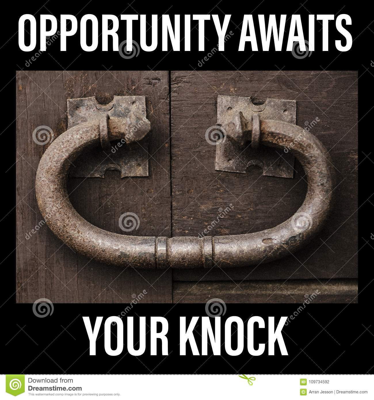 Opportunity Awaits Your Knock Sign Large Rustic Door Knocker